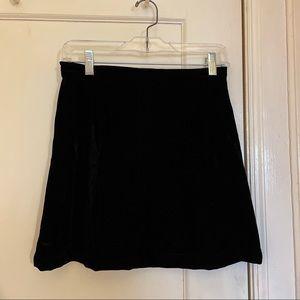 MINKPINK Black Velvet Skater Skirt Size Small